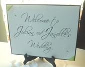 Wedding signs- Reception Entry Sign-Vintage Garden Collection- 8 x 11- Personalize with Names