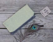 waxed canvas vintage fabric foldover clutch zippered clutch