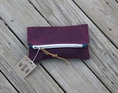 merlot waxed canvas foldover clutch leather fringe tie mothers day
