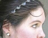 Vintage chandelier crystal tie headband, women hair accessory, Bohemian Headband