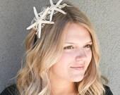 ON SALE-beach wedding starfish headband