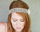 vintage lace hippie tie headband, headbands for women and teens