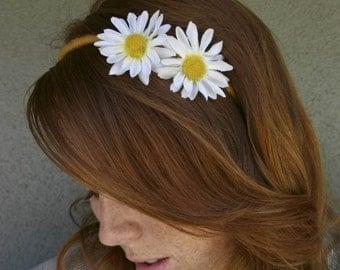 Daisy Headband, He Loves Me, He Loves Me Not, Bohemian Headband, Hippie Headband for Women and Teens Daisy Hair Accessory