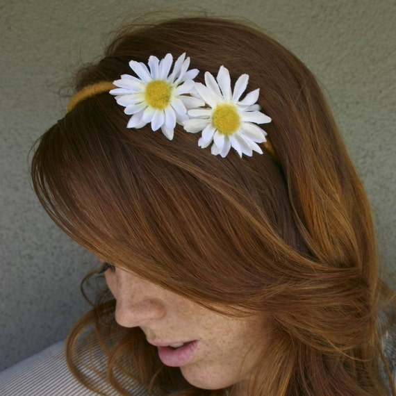 Daisy Headband, He Loves Me, He Loves Me Not, Bohemian Headband, Hippie Headband for Women and Teens Daisy Hair Accessory