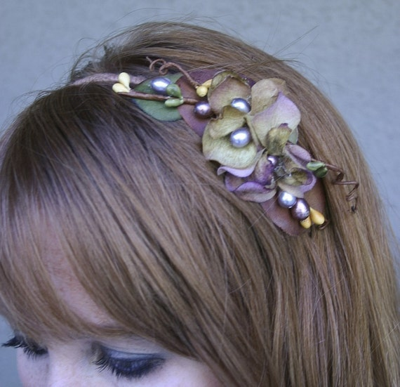 Woodland Fower Headband Women's Hair Accessory for Weddings and Everyday