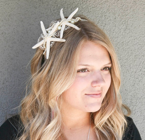 ON SALE-beach wedding starfish headband
