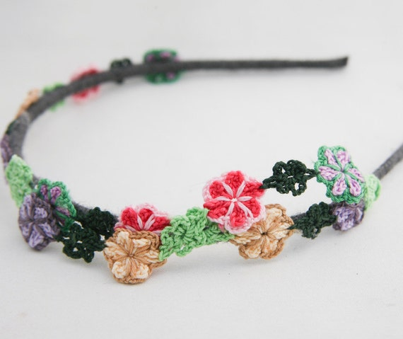flower chain headband