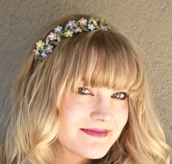 SALE-flower ribbon headband for adults and teens