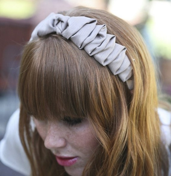 Dark Ivory Bow Headband