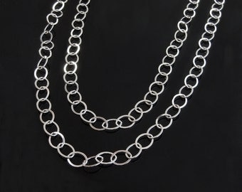 Sterling Silver Cable Chain Necklace - 36 inches