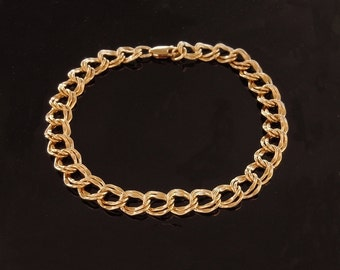 Gold Chain Link Bracelet - 14kt Gold Filled Double Links