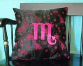 CLEARANCE Brocade Scorpio Pillow