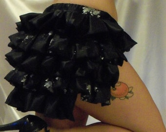 CLEARANCE Black and Silver brocade Valentina s-m size ready to ship