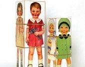 Wood Toy Puzzle Girls Children's Victorian Paper Doll Wooden Baby Blocks gift under 50