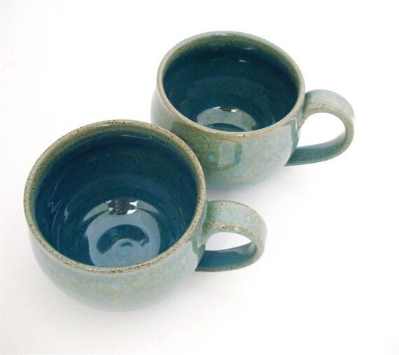 Stephanie and Will's Wedding Registry Pair of Hand Thrown Huggable Mugs