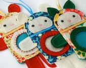 Reserved Listing-Festive Holiday Animal Frame Ornament