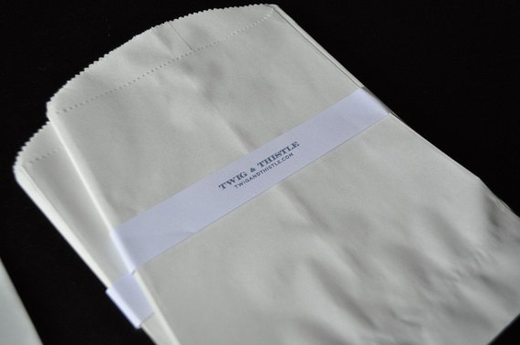 White Paper Bags - Set of 25