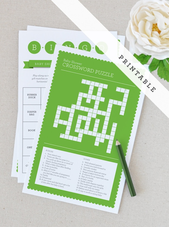 items similar to printable baby shower games green on etsy
