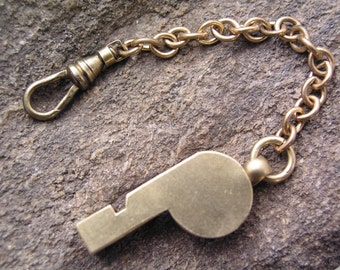 Brass Whistle Fob