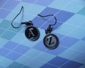 A to Z Typewriter Earrings (other letters available)