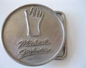 Vintage Michael Jackson Glove Belt Buckle 1984