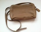 Vintage Taupe Colored Coach Bag
