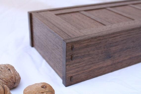 Black Walnut Tansu Slider Box