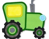 TRACTOR Applique 4x4 5x7 6x10 Machine Embroidery Design Fall Hayride  INSTANT Download