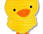 CUTE CHICK Applique 4x4 5x7 6x10 Machine Embroidery Design boy easter spring  INSTANT Download