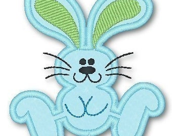Hopping Bunny  4x4 5x7 Applique Machine Embroidery Design  INSTANT