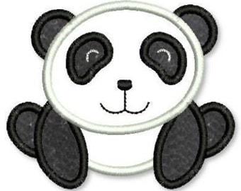 PANDA BEAR  Applique 4x4 5x7 6x10  Machine Embroidery Design  INSTANT Download