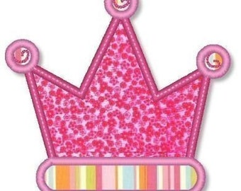 CROWN Applique PLUS Mini Designs 4x4 5x7 6x10  Machine Embroidery princess  INSTANT Download