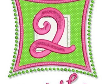 Square Numbers MONTHLY Milestones SET 4x4 5x7 Machine Embroidery Design  INSTANT Download