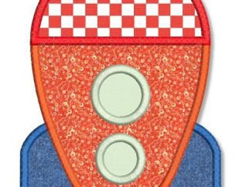 ROCKET SHIP Applique 4x4 5x7 Machine Embroidery Design boy baby child  INSTANT Download