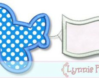 Chunky  PLANE with blank BANNER Applique 4x4 5x7 6x10  Machine Embroidery Design airplane  lynnie pinnie personalize boy   INSTANT Download