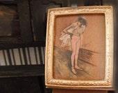 Miniature Framed Ballerina Painting