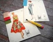 Miniature Fashion Sketches (set of 3)