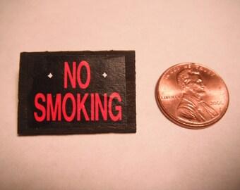 Miniature No Smoking Sign