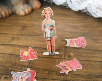 Miniature Vintage Paper Doll