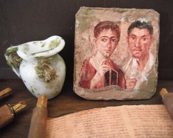 Miniature Roman Egyptian Mummy Portrait