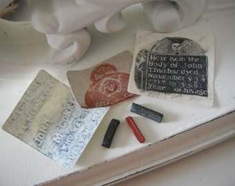Miniature Gravestone Rubbings