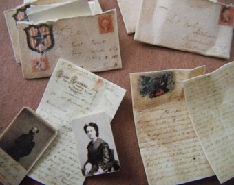 Miniature Civil War Love Letters