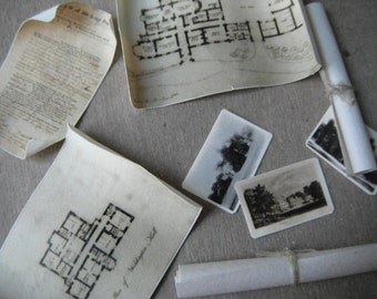 Miniature Castle Deed and Blueprints