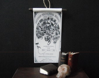 Miniature Natural History Chart --- Phrenology