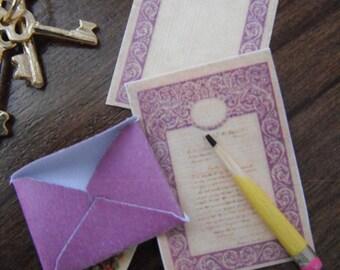 Miniature Victorian Romance Letter Set