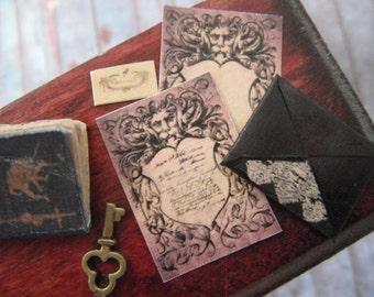 Miniature Haunted Mansion Letter Set