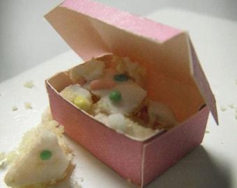Miniature Pink Bakery Box --- Set of 3