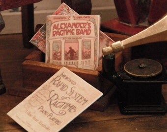 Miniature Old Timey Music Sheets