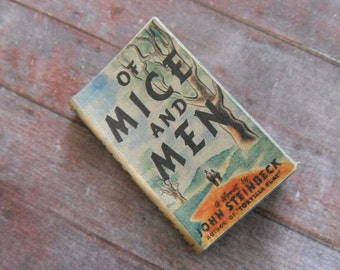 Miniature Book --- Of Mice and Men