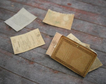 Miniature Antique File Folder